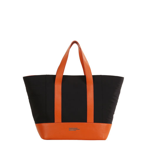 Womens nylon and leather handbag