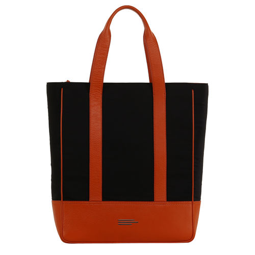 Womens Nylon And Leather Tote
