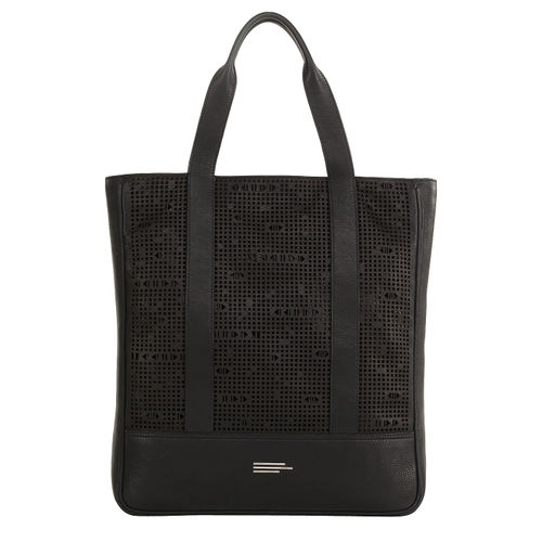 Womens Leather Lazered Tote