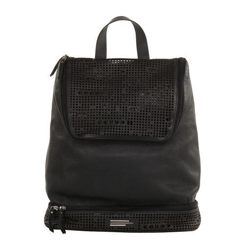 Unisex leather lazered backpack