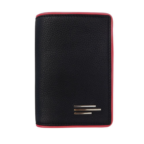 Unisex Leather And Nylon Passport Wallet
