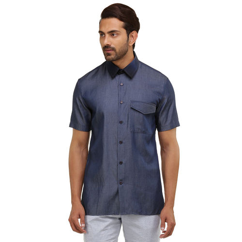 Chambray Half sleeve shirt