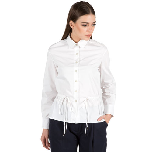 White Stretch Poplin Shirt