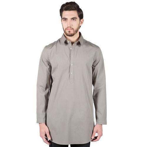 Charcoal Stretch Poplin Shirt