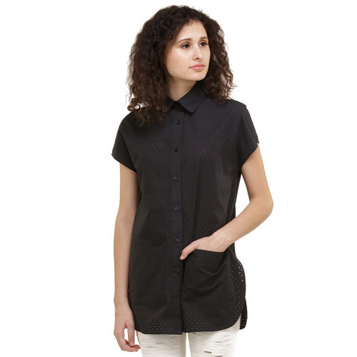 Navy Preforated Shirt