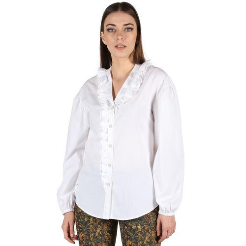 Ruffle Neck Shirt