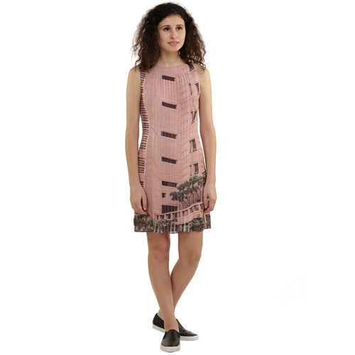 Landscape Print Shirt Dress