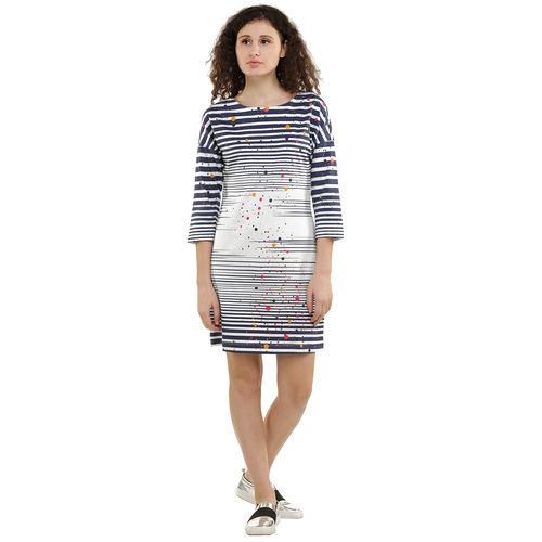 Dots Stripes Degrade Print Dress