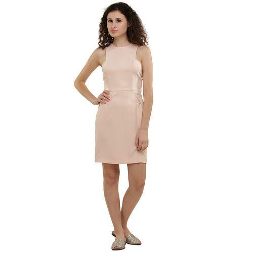 Nude Twill Dress