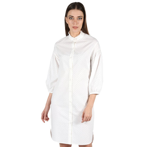 Off White Button Down Dress