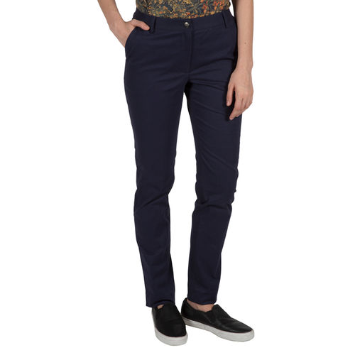 Slim Fit Navy Trousers