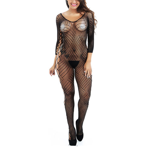 c5dde62d4 Sale Xs and Os Women Fishnet Crotchless full bodystocking Lingerie (Black