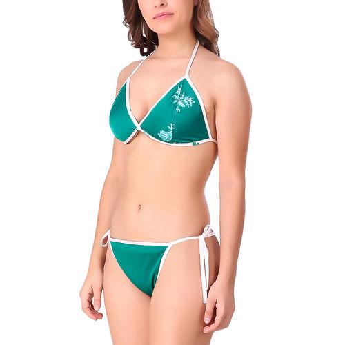 5f56f7e9787 Xs And Os Women Satin Bra Panty Lingerie Set Sea Green | Free Size ...
