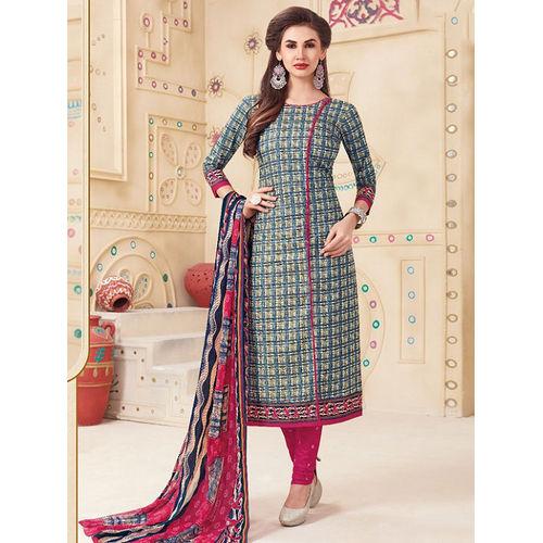 367fe79710 Cotton Dress material with chiffon dupatta D.no. 1097