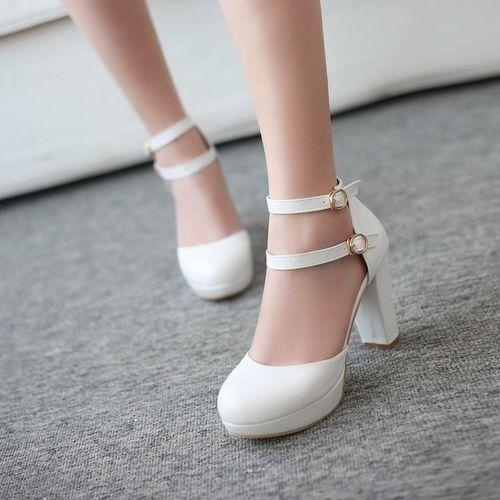 Pkkart Women's White Heels