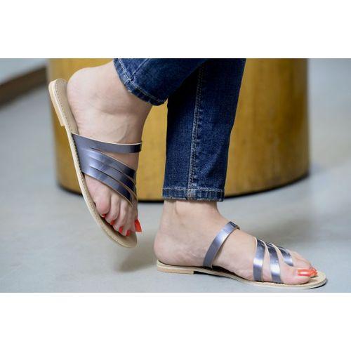 Pkkart Women's Grey Flats