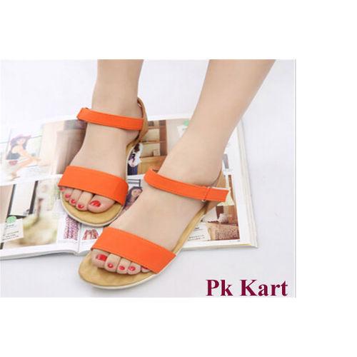 Pkkart Women's Orange Flats