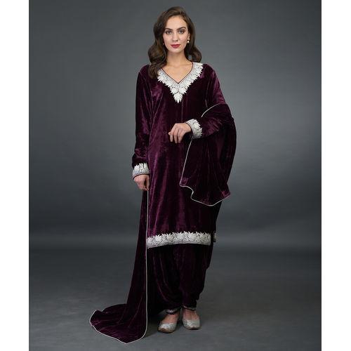 6c86a21b962 Noor Silk-Velvet Tilla Embroidered Patiala Salwar Suit