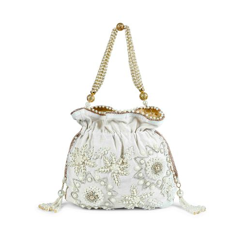 White Pearl Potli bag