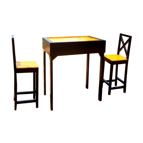 Dining Tables For Two: Vida High Dining Table With 2 Chairs