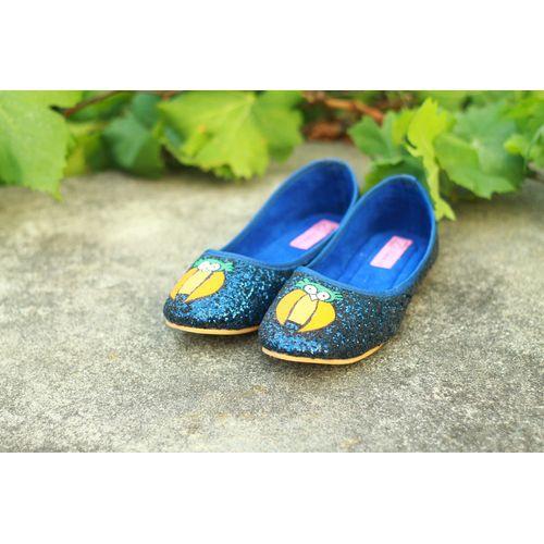 blue glitter owl ballerina