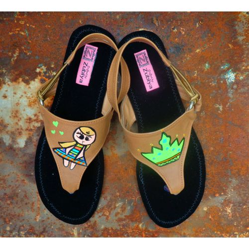 beige princess doll sandals