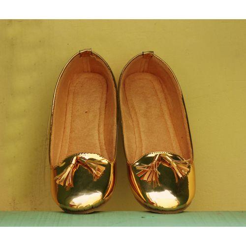Golden mettalic tassel ballerina