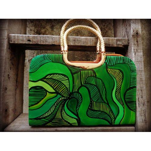 Green whirlpool hand bag/sling