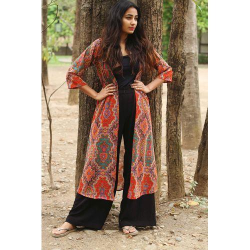Mughal print cape