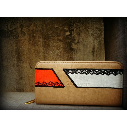 neon and whote abstract wallet