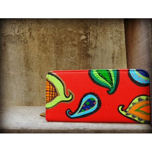 red pasley wallet