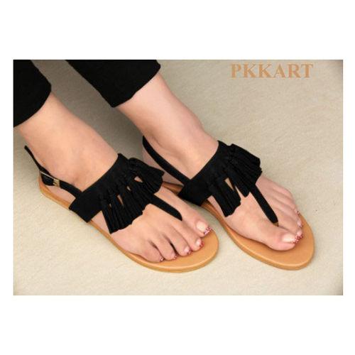 Pkkart Women's Black Flats
