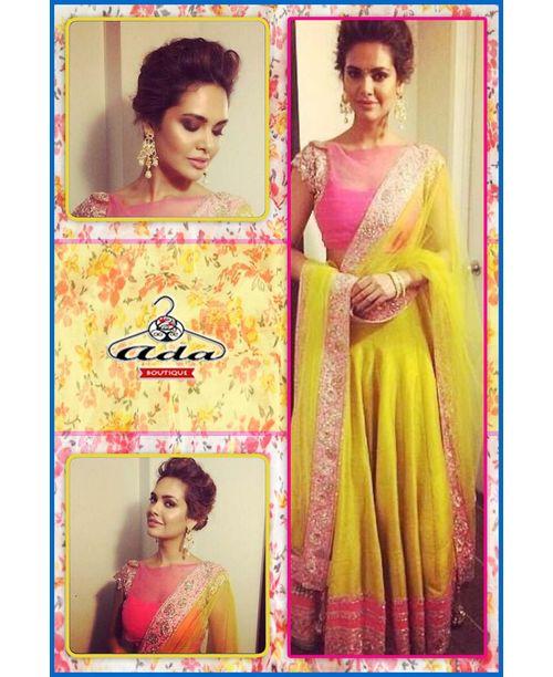 Stylish Pink Yellow Dress