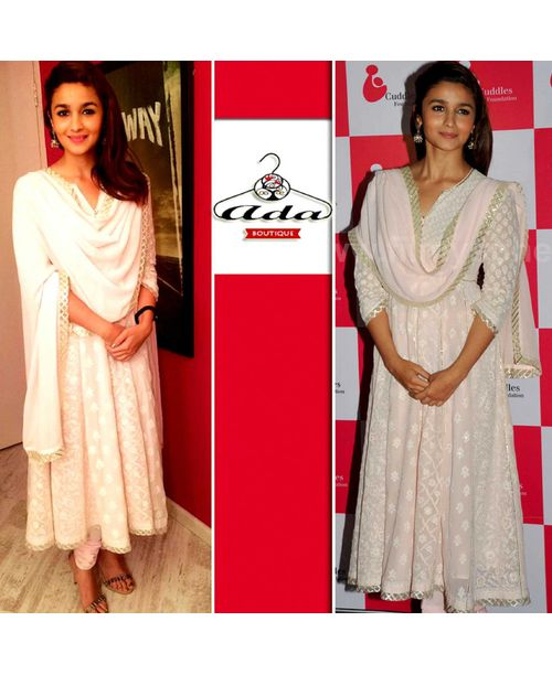 Alia Bhatt Light Pink Dress