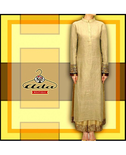 Stylish Golden/Beige Dress