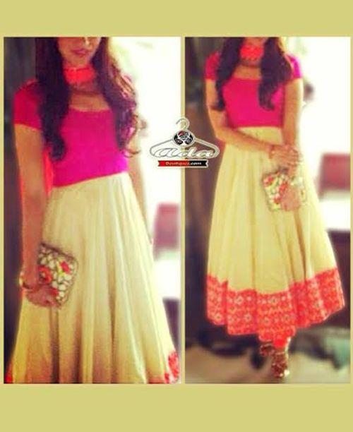 Stylish Beige /Pink Dress