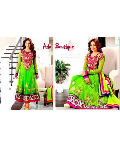 Bipasha Basu Stylish Green  Anarkali