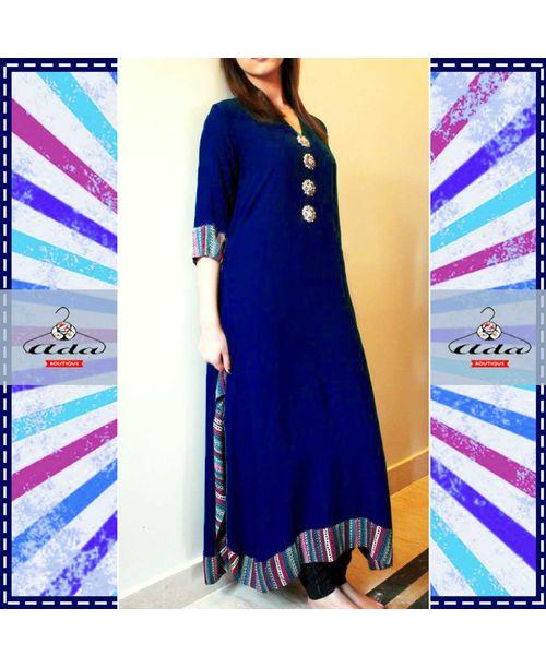 Trendy Black / Blue  Dress