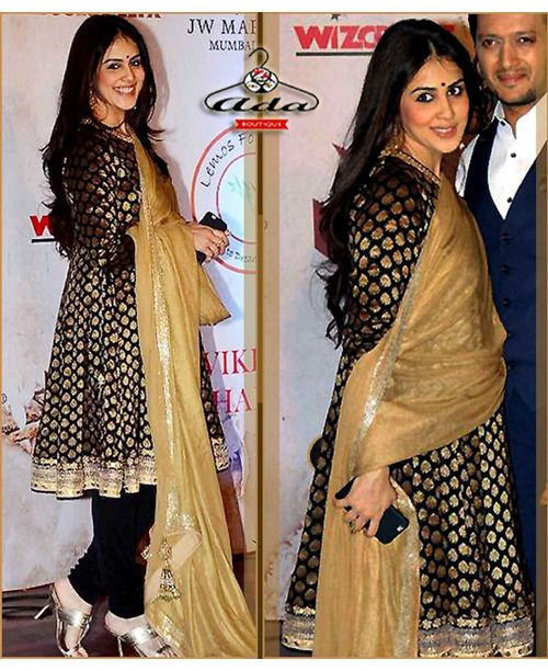 Stylish Genelia Ethnic Wear
