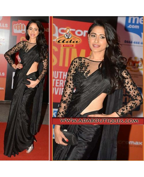 Stylish Black Saree