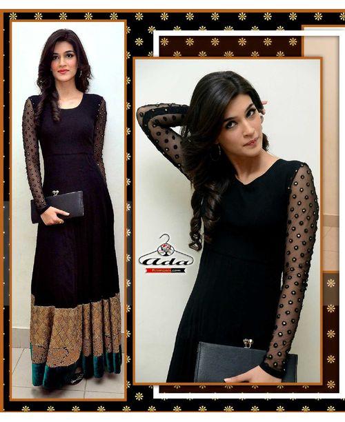 Sizzling Black Anarkali Gown