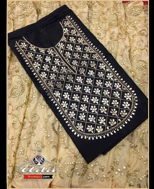 Black/Beige Gotta Patti Dress