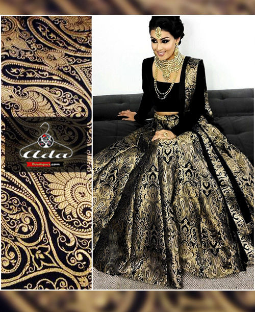Black Banarsi Lehenga Dress