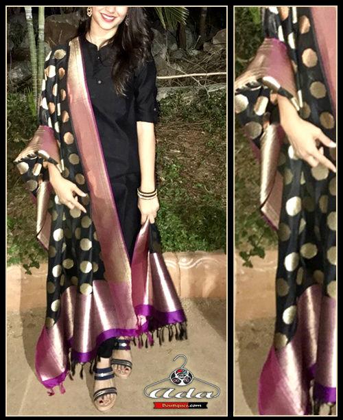 Royal Black Ethnic Dress