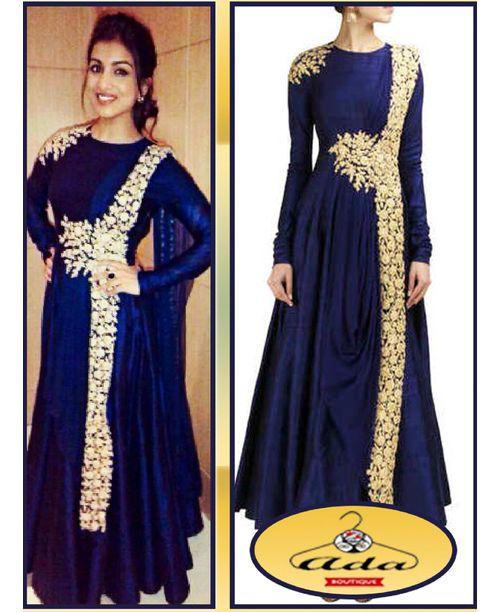 Stylish Blue Anarkali Gown
