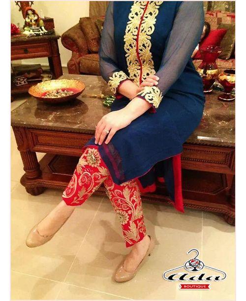 Stylish Red / Blue Dress