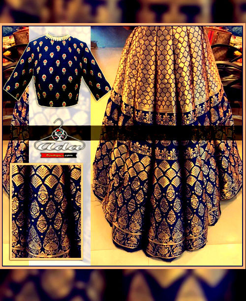 Heavy Flared Skirt Dress With Beautiful Blouse