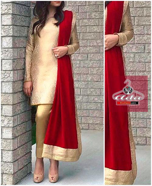 Golden/Red Classy Dress