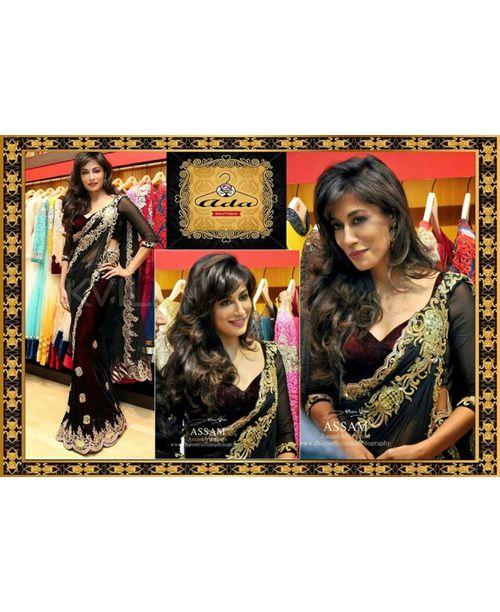 Glamourous Chitrangada Black Replica Saree