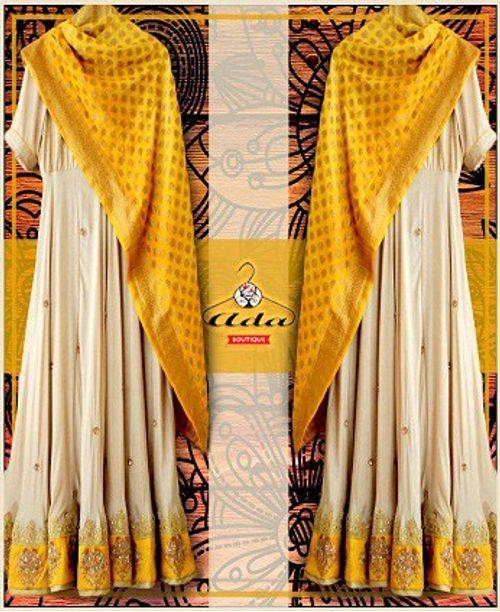 Yellow/Creme Dress